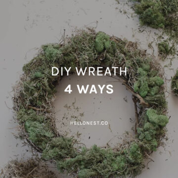 DIY Wreath 4 Ways - HelloNest.co