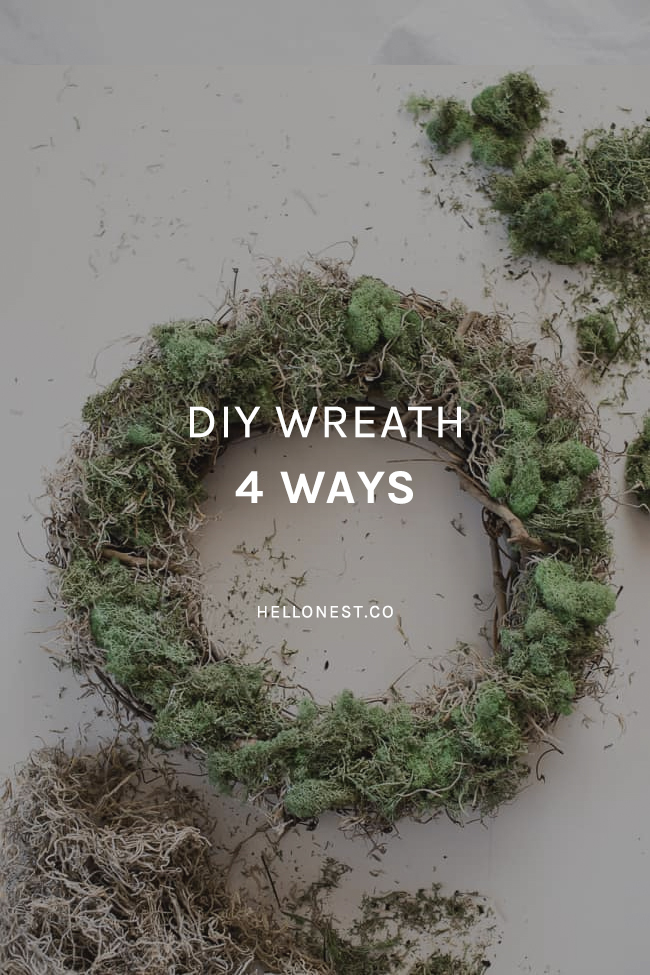DIY Wreath 4 Ways - HelloNest.co