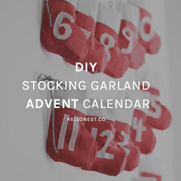 DIY Stocking Garland Advent Calendar - HelloNest.co