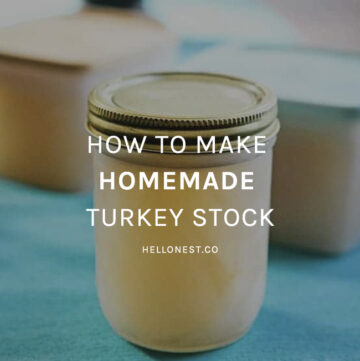 How to make homemade turkey stock - HelloNest.co