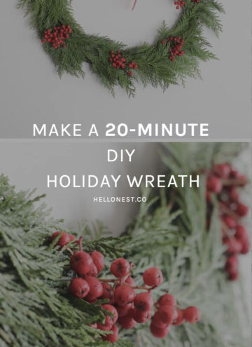 20-Minute DIY Holiday Wreath - HelloNest.co