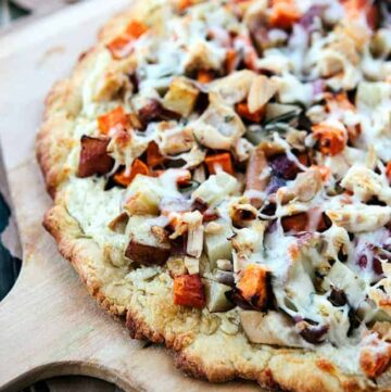 Winter veggie chicken pizza - Hello Nest