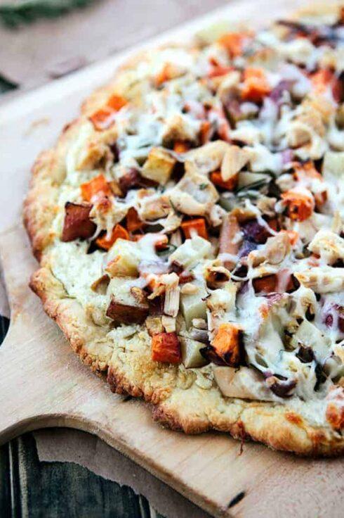 Winter veggie chicken pizza - Hello Nest